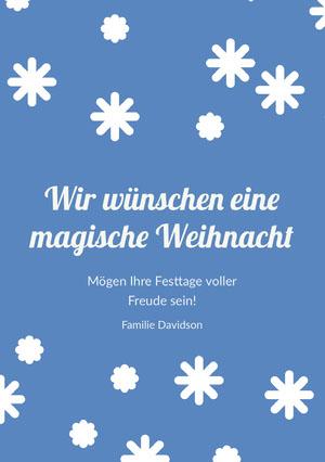 Wir wünschen eine<BR>magische Weihnacht Weihnachtskarte