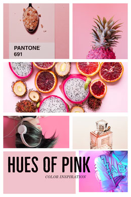 Hues of pink Collage di foto
