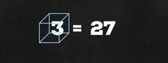 Black Mathematics Facebook Profile Cover with Cube Math