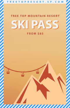 ski poster Mountains