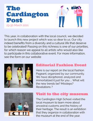 Light Blue Cardington Post Newspaper Cover Letter Newspaper