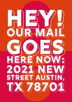 Orange and Pink Modern Change of Address Card  Orange