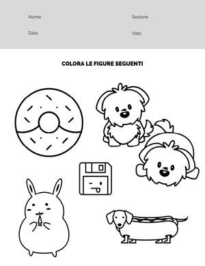 coloring pictures worksheet  Foglio di lavoro