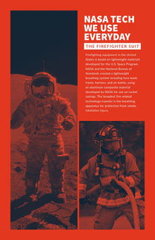 NASA TECH WE USE EVERYDAY Affiche