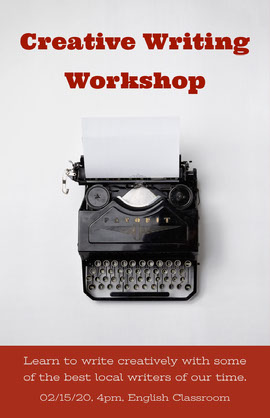 Creative Writing Workshop Poster Ansichtkaart