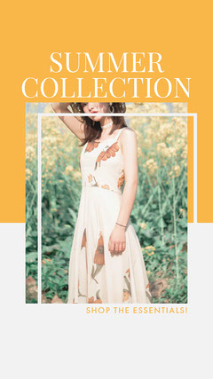 Orange, Light Toned, Fashion Summer Collection Ad Instagram Story New Collection