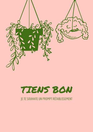 hang in there getting well soon cards Carte de bon rétablissement