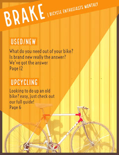 Orange and Yellow Bicycle Magazine Cover Bike