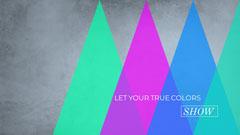 Multicolored Geometric Inspirational Desktop Wallpaper Background