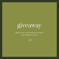 Olive Green Minimalist Elegant Giveaway Contest Instagram Square Ad Giveaway