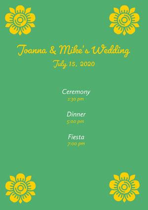 Joanna & Mike's Wedding  Program