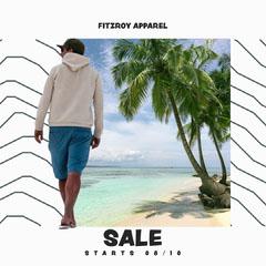 White Sand Beach Sale IG Square Sale Flyer