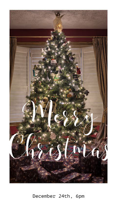 Merry Christmas Instagram Story with Christmas Tree Christmas