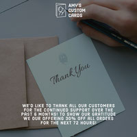 Custom Card Printing Business Sale Instagram Square Ad Thank You Messages