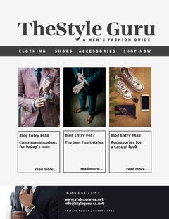 Navy And White The Style Guru newsletter - Letter Men