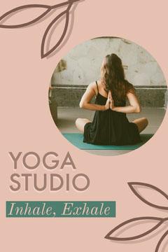 Pink Leaves - Yoga Studio  Pinterest Post  Wellness