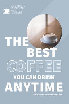 Blue Online Coffee Shop Pinterest Ad Coffee