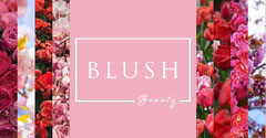 Pink White Floral Blush Beauty Facebook Beauty
