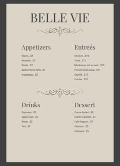BELLE VIE Restaurants
