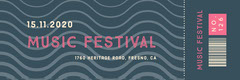 Nvay Blue and Pink Music Festival Concert Ticket Concert Ticket