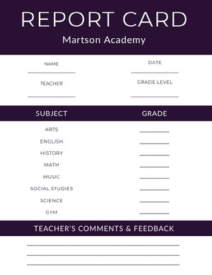 Black Academy School Report Card Report Card