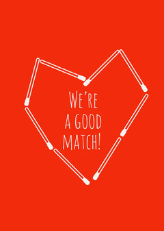 good match valentines card Heart