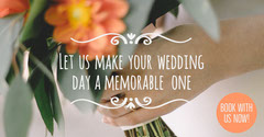 Wedding Planning Facebook Post Ad with Hand Holding Bouquet Weddings