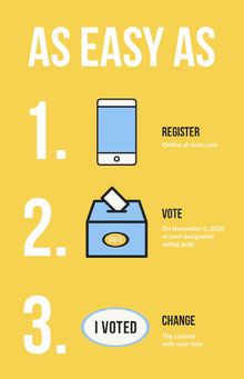 Yellow, White and Blue, Voting Tips, Poster Poster