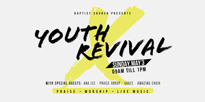 Yellow and White Gospel Event Eventbrite Music Banner