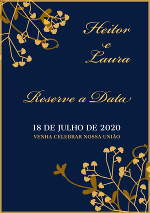 blue and gold wedding invitations  Convite de casamento
