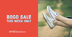 Red and White Sport Shoes Sale Facebook Banner Bogo