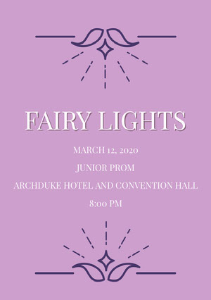 FAIRY LIGHTS Prom Posters