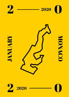 Monaco Postcard Yellow