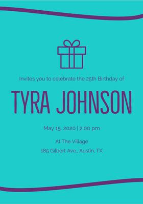 Tyra Johnson  Birthday Invitation