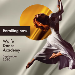 Grey Orange Gold Dance Academy Instagram Square  Dance Flyer