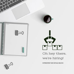 White and Grey Job Instagram Graphic Now Hiring Flyer