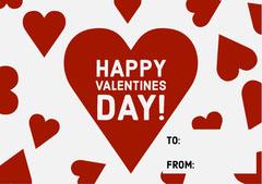 Red Hearts Valentine's Day Card Valentine's Day
