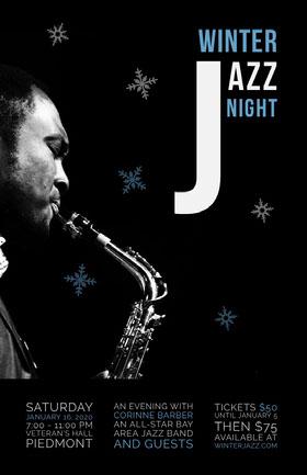 Winter Jazz Night Event Poster Veranstaltungs-Flyer