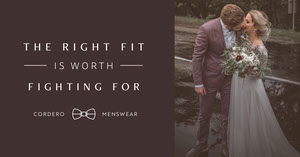 Brown, Warm Toned Manswear Ad Facebook Banner segnaletica