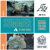 White and Blue Summer Camp Instagram Graphic 写真コラージュ