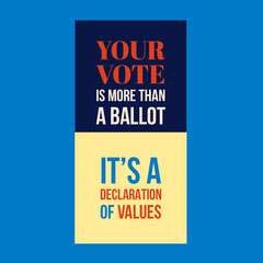 Blue and Yellow Vote Instagram Graphic Election