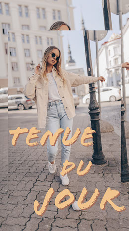 neutral tone Outfit of the Day Collage Instagram Story Montage photo