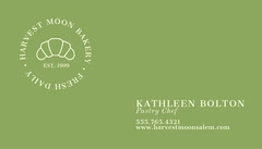 Traditional Green Baker Business Card Business