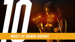 Gold, Yellow and White Workout You Tube Video Cover Boxing