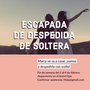 ESCAPADA DE DESPEDIDA DE SOLTERA Invitaciones para enviar por correo electrónico