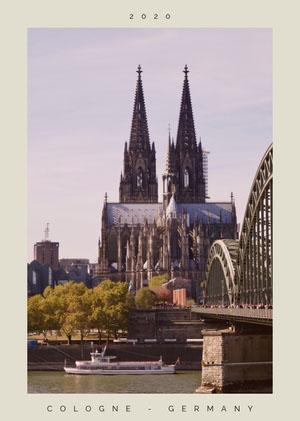 Cologne Germany Postcard Cartolina di viaggio