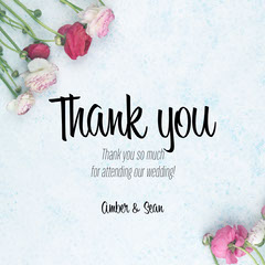 Floral Amber Thank you Instagram Square Thank You Poster