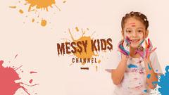 Colorful Paint Blotches Messy Kids YouTube Channel Art Paint