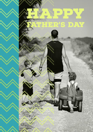Yellow With Old Photo Happy Father's Day Card Father's Day Messages