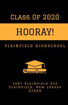 Orange and Black Graduation Poster School Posters